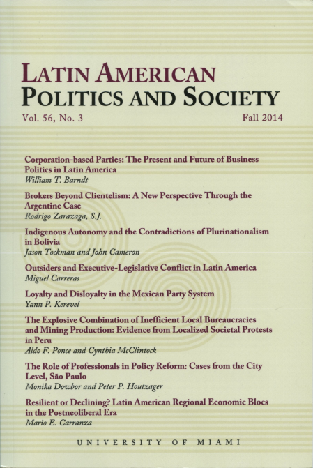 Latin American Politics and society Vol.56 No.3 Fall 2014
