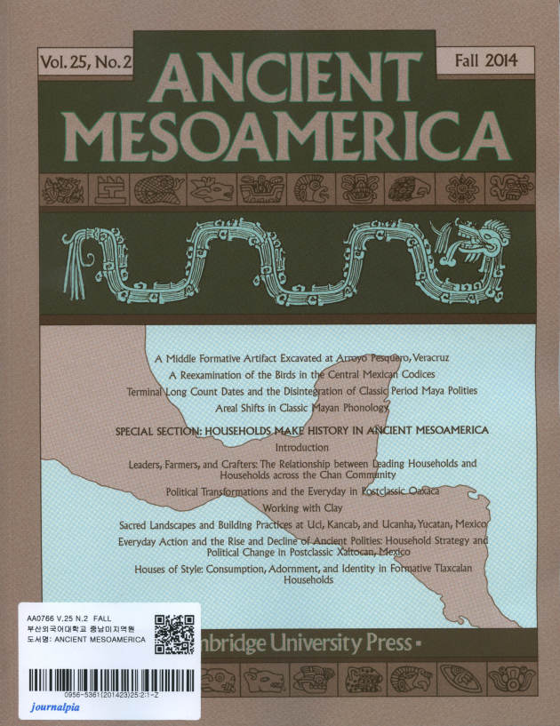 Ancient Mesoamerica Vol.25 No.2 Fall 2014