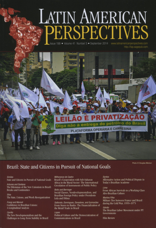Latin American Perspectives. Issue 198 Vol 41 No.5 September 2014