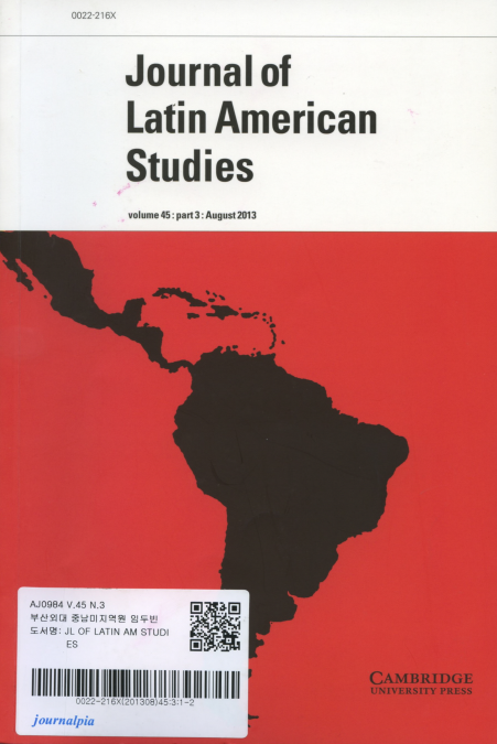 Journal of Latin American Studies Vol.45 part3: August 2013